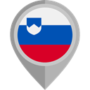 slovenia, Country, Nation, flag, placeholder, flags DarkGray icon
