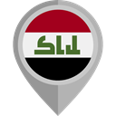 flag, Iraq, placeholder, flags, Country, Nation Black icon