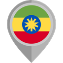 flag, Ethiopia, placeholder, flags, Country, Nation DarkGray icon