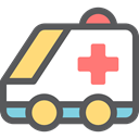 medical, transportation, transport, vehicle, Ambulance, emergency, Automobile, Healthcare And Medical DimGray icon