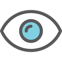 view, Visibility, Healthcare And Medical, medical, interface, Eye, visible DimGray icon