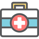 doctor, medical, hospital, Emergency Kit, Medical Kit, Healthcare And Medical DimGray icon