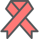 medical, Ribbon, Aids, Solidarity, Shapes And Symbols, Healthcare And Medical Salmon icon