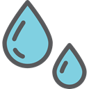 weather, Rain, drop, water, nature, Teardrop, raindrop, drops, Healthcare And Medical SkyBlue icon