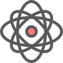 nuclear, Electron, physics, Healthcare And Medical, science, Atomic, education DimGray icon