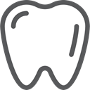 tooth, dental, Caries, Premolar, Dentist, medical, Teeth, Healthcare And Medical DimGray icon