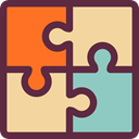Puzzle Pieces, Puzzle Game, education, Puzzle, puzzle piece DarkSlateGray icon