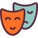 education, Theater, Drama, Comedy, Masks, theatre, tragedy, entertainment Tomato icon