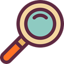 search, magnifying glass, zoom, Magnifier, detective, Loupe, Tools And Utensils DarkSlateGray icon