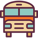 transportation, transport, vehicle, school bus, Automobile, Public transport DarkSlateGray icon