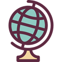 planet, education, Geography, Maps And Flags, Planet Earth, Earth Globe, Earth Grid, globe DarkSlateGray icon
