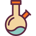 Test Tube, Flasks, education, Chemistry, flask, chemical, science Icon