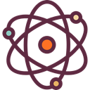 science, Atom, education, Chemistry, nucleus, Orbital DarkSlateGray icon