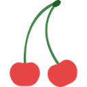 Cherry, cherries, vegetarian, vegan, food, Fruit, organic, diet, Healthy Food, Food And Restaurant Black icon