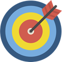 Arrows, Arrow, sport, Target, archer, Sports And Competition, objective, Archery, weapons DarkSlateBlue icon