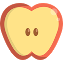 vegan, Healthy Food, Food And Restaurant, Fruit, organic, diet, vegetarian, Apple, food Khaki icon
