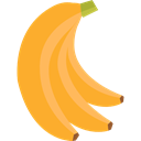 Bananas, vegetarian, vegan, Healthy Food, Food And Restaurant, food, Fruit, organic, diet, Banana Goldenrod icon