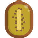 food, Fruit, organic, diet, Kiwi, vegetarian, vegan, Healthy Food, Food And Restaurant Goldenrod icon