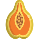 food, Fruit, papaya, Healthy Food, Food And Restaurant, organic, diet, vegetarian, vegan Black icon