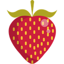 organic, diet, vegetarian, vegan, Healthy Food, Food And Restaurant, food, Fruit, strawberry Crimson icon