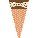 Dessert, sweet, summer, Ice cream, food, cone, Summertime, Food And Restaurant Black icon
