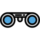 Binoculars, Eye, see, spy, Goggles, sight, Tools And Utensils Black icon