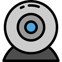Cam, Webcam, technology, Videocall, electronics, Videocam, Communications, video chat LightGray icon