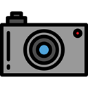 picture, interface, digital, technology, electronics, photograph, photo camera DarkGray icon