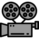 film, movie, technology, electronics, video camera, Video Cameras, cinema DarkGray icon