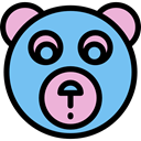 Animal, bear, Animals, children, teddy bear, childhood, puppet, Fluffy, Kid And Baby SkyBlue icon