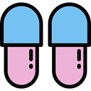 fashion, footwear, slipper, Comfortable, Clothes, clothing, slippers SkyBlue icon