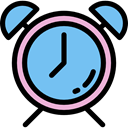 Clock, time, timer, alarm clock, Tools And Utensils SkyBlue icon