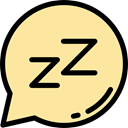 miscellaneous, Cloud, Dream, speech bubble, healthy, Sleeping NavajoWhite icon