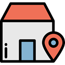 placeholder, signs, real estate, map pointer, Home, house, Gps, pin, Map Location, Map Point Lavender icon