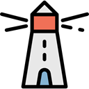 Orientation, Lighthouse, tower, Guide, buildings, Architecture And City Black icon