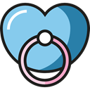 children, Pacifier, babies, Pacifiers, Toy Icons, Kid And Baby, tools, toys, tool, Toy SkyBlue icon