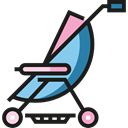 Buggy, Pushchair, Kid And Baby, transport, children, childhood, stroller Black icon