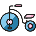 children, tricycle, Kid And Baby, transportation, transport, vehicle, Toy Black icon