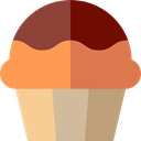 Food And Restaurant, Dessert, sweet, Bakery, baked, food, cupcake, muffin SandyBrown icon
