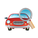 transportation, transport, vehicle, glass, Car, Magnifier Black icon