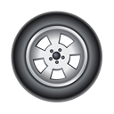 Car, auto, transport, Tire, Automobile Black icon