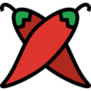 hot, food, vegan, Spicy, Chili Pepper, Food And Restaurant, organic, pepper, Chili, vegetarian Black icon