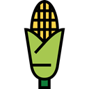 food, Ear, corn, Cob, Maize, Food And Restaurant Black icon