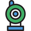Videocam, Communications, video chat, Videocall, Cam, Webcam, technology, electronics Black icon
