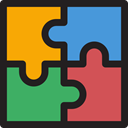 Puzzle Game, Kid And Baby, education, Puzzle, puzzle piece, Puzzle Pieces IndianRed icon