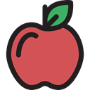 vegan, Healthy Food, Food And Restaurant, Apple, food, Fruit, organic, diet, vegetarian IndianRed icon