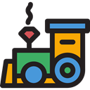 toys, transport, Toy, train, children, Locomotive, trains, Railroad, Baby Toy, Kid And Baby Black icon