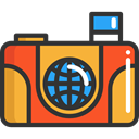 Camera, picture, interface, photograph, photo camera, digital, technology, electronics DarkSlateGray icon