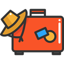 suitcase, travel, luggage, baggage, travelling, Tools And Utensils Tomato icon
