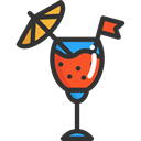 cocktail, cocktails, drinks, beverage, Glasses, drink, food, glass, Drink Set, Food And Restaurant Black icon